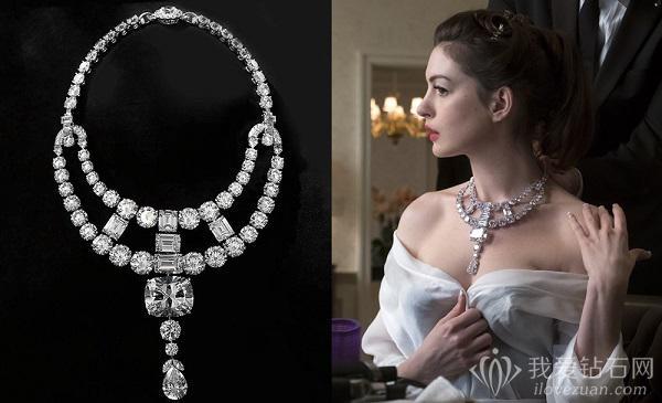 Cartier为电影瞒天过海复刻钻石项链
