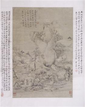 吴琪《溪头老树图》鉴赏