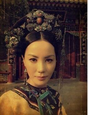 王菲清朝贵妃照曝光