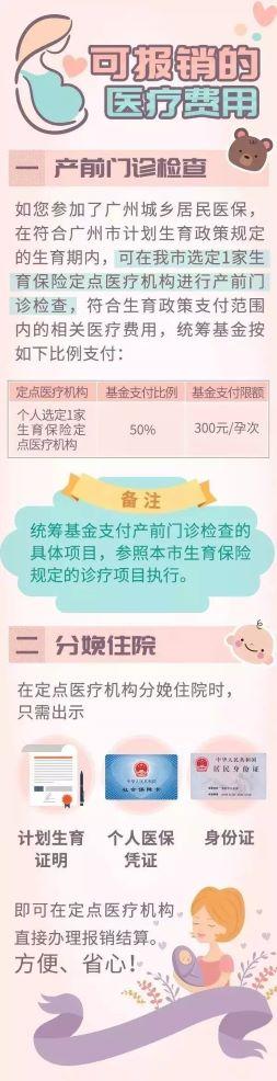 广州只有居民医保没有生育保险可以报销吗?