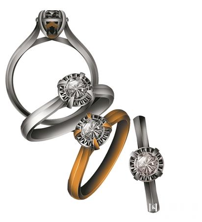 """钻石镶嵌运用了古建筑""""榫卯""""工艺。"""