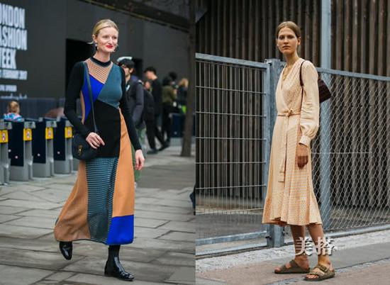秋装穿衣搭配造型示范 和潮人秀一波连衣裙