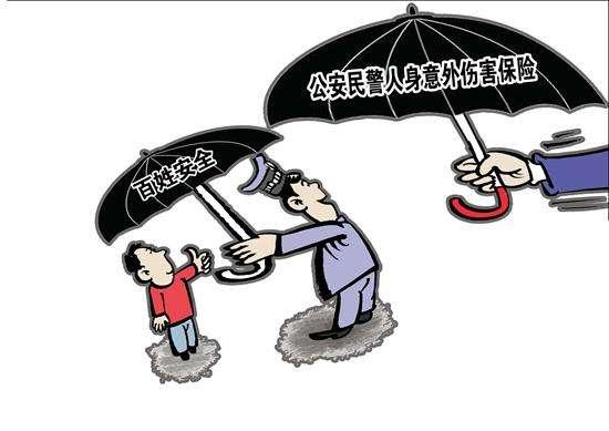 浙江嵊州:为民警提供意外险保障