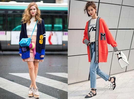 秋季服装流行趋势示范 多色针织衫凸显温柔优雅