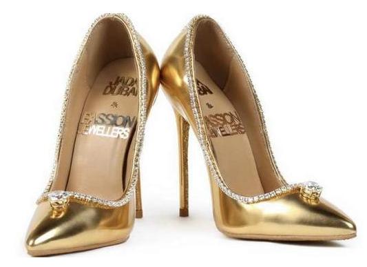 迪拜展出世界上最贵的鞋子