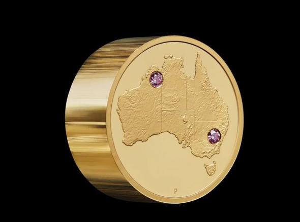 澳大利亚发行最昂贵「镶粉钻金币」