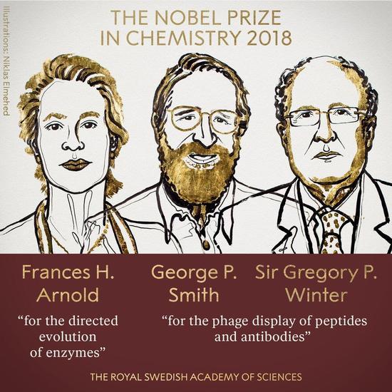 诺贝尔化学奖揭晓 主要贡献是进化控制
