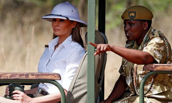 因为一顶帽子 美第一夫人被群嘲