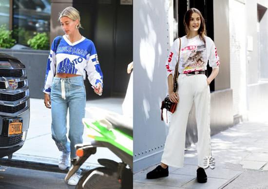 秋季服装流行趋势示范 长袖T恤是时候拿出衣柜了!