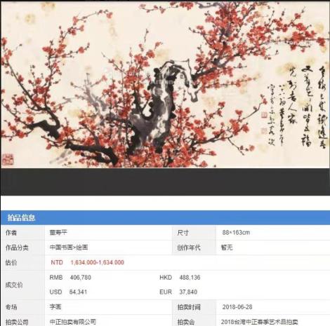 海外拍卖掀起浪潮 博朗轩书画作品成交额屡创新高