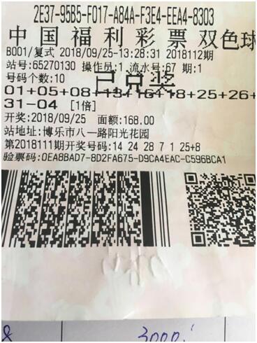 新疆彩民惊喜中得双色球一等奖615万多元