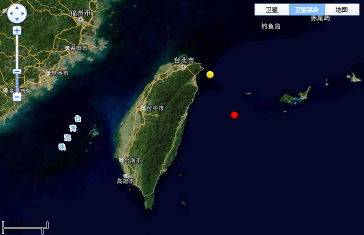 台湾花莲县发生6.0级地震 震源深度30千米