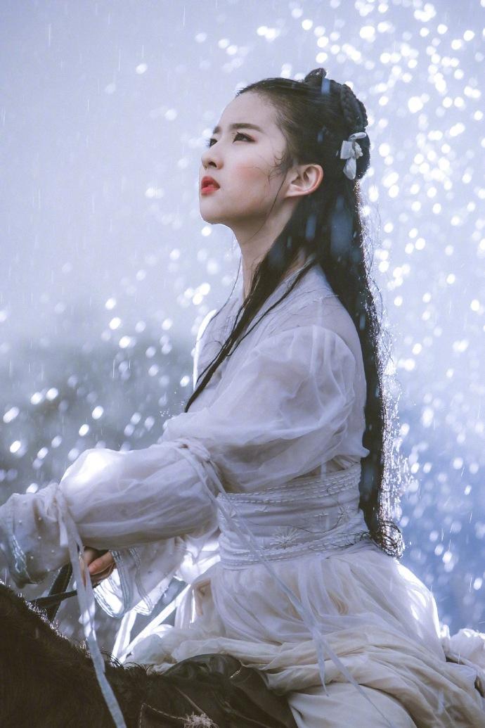 刘亦菲旧照似仙女