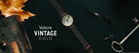 Klasse14 新品VOLARE系列Vintage Gold腕表!