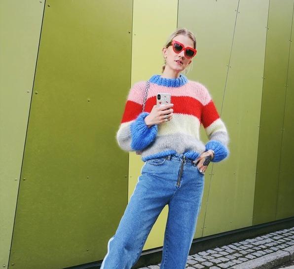 018秋冬流行的毛衣又美又暖 色块拼撞、亮眼配色