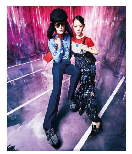 普拉达 (Prada) 2019早春系列广告大片—唤起一场对立阵营间的风格对话