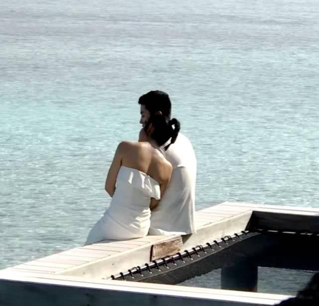 陈妍希拍婚纱照