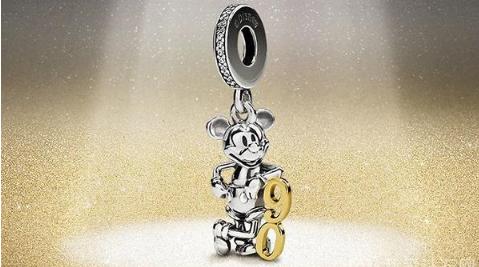 丹麦珠宝品牌潘多拉与迪士尼推出 限量款米奇90周年纪念串饰