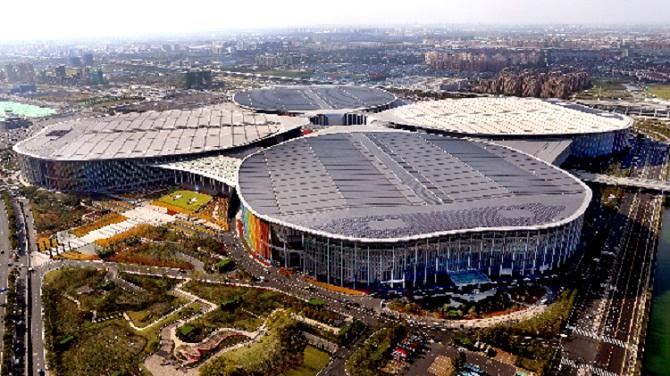 首届中国国际进口博览会举办场地——国家会展中心(上海)。图/新华社