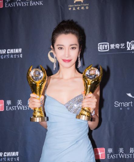 第14届中美电影节金天使奖 李冰冰佩戴宝齐莱腕表优雅亮相!