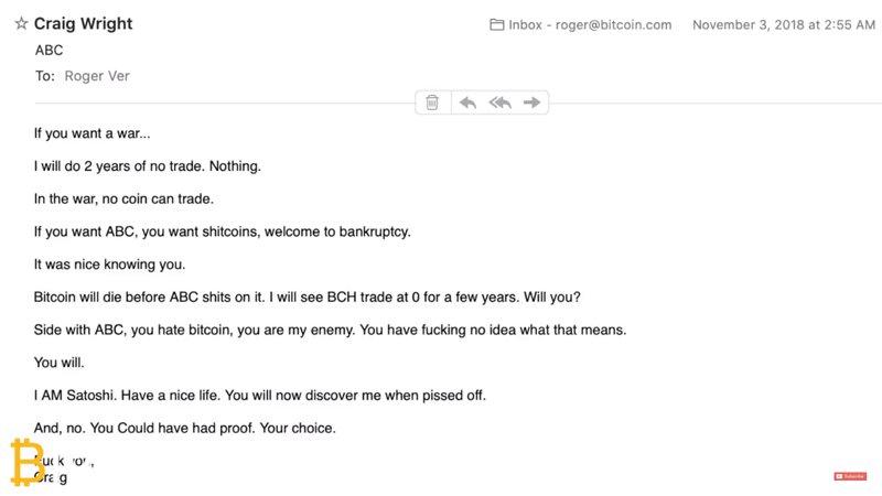 站队Bitcoin ABC Roger Ver收到了一封绝交信