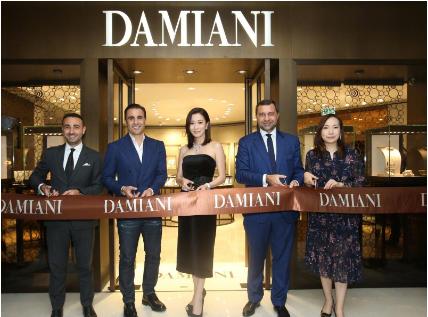 意大利珠宝品牌DAMIANI携手佘诗曼 参加新店剪彩仪式