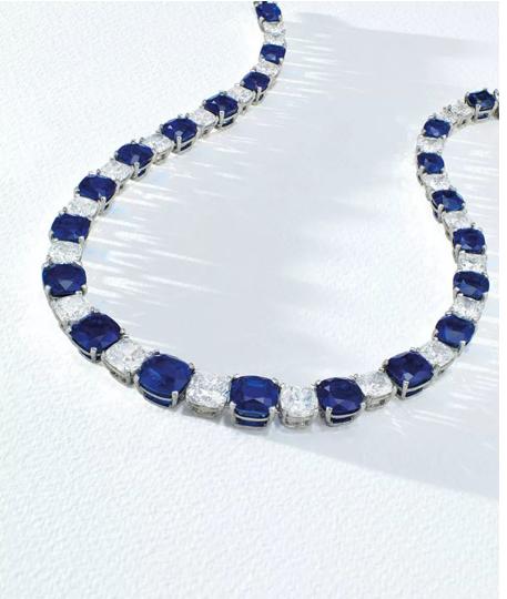 1.2亿港币 109克拉克什米尔蓝宝石项链创纪录成交