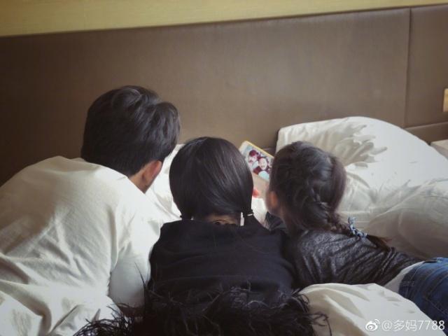 孙莉晒父女三人生活 黄磊陪伴女儿画面温馨感动