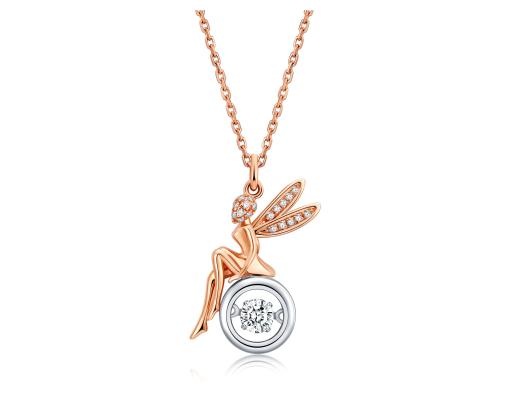 六桂福珠宝「心动」系列钻石项链:绽放锁骨上的熠耀