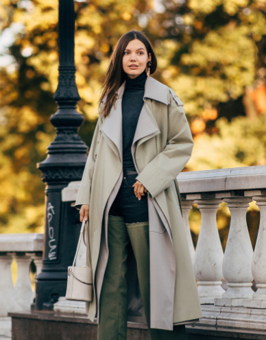 俄罗斯最美时尚博主Daria街拍:平价单品+重复穿搭 样的私服街拍给我来一打!
