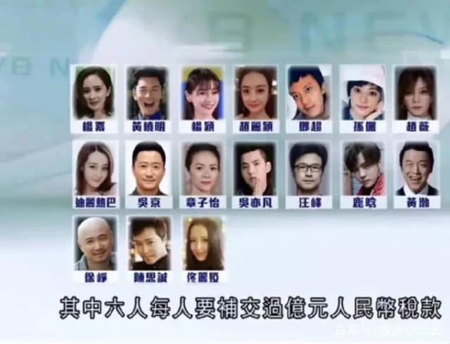 TVB曝光17名被约谈艺人名单:其中6人需要补交上亿税款