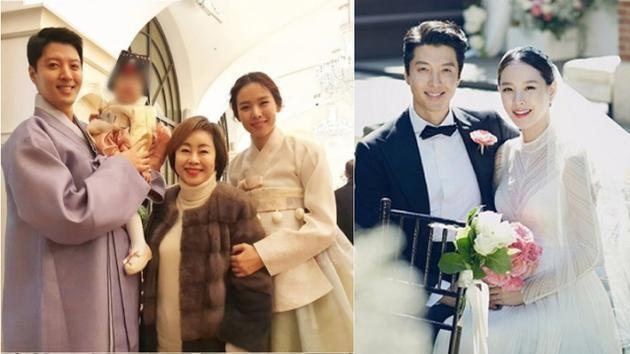 李东健为女办周岁宴 一家三口穿韩服出镜超温馨