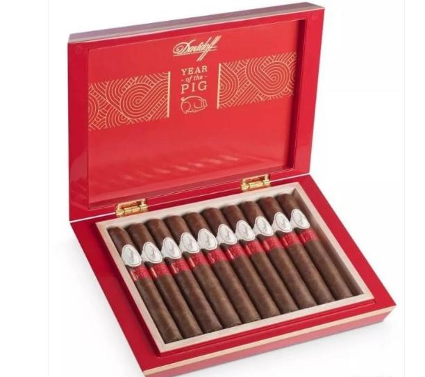 大卫杜夫猪年限量版雪茄上市 烟灰缸用皮质包裹
