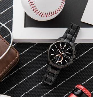 卡西欧Edifice黑色IP涂层系列无缝衔接商务与时尚