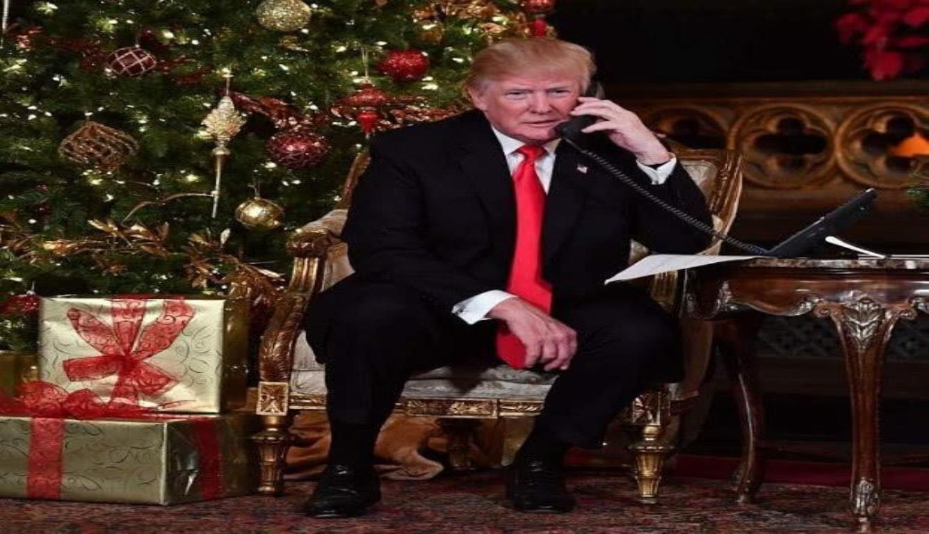 美梦粉碎机上线!特朗普问男孩还信圣诞老人吗