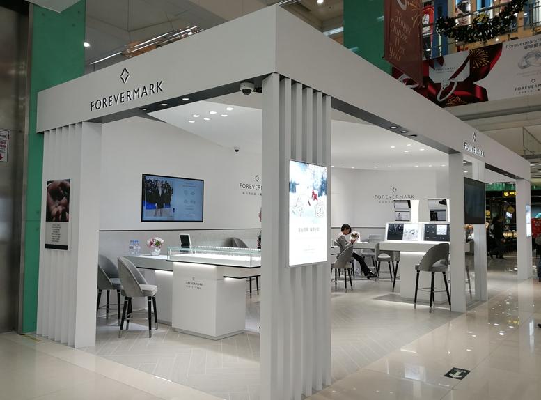 戴比尔斯永恒印记在广州开独立零售店