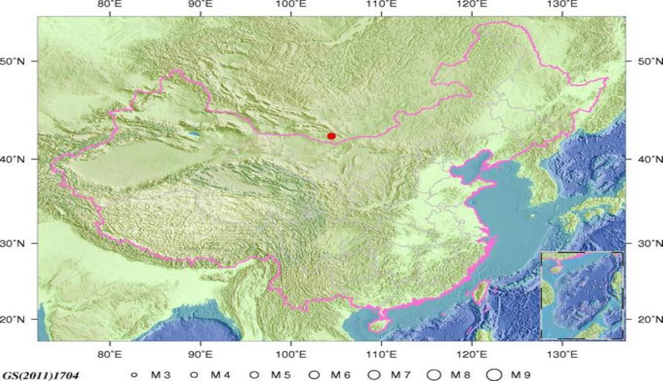 蒙古发生5.0级地震 震源深度15千米