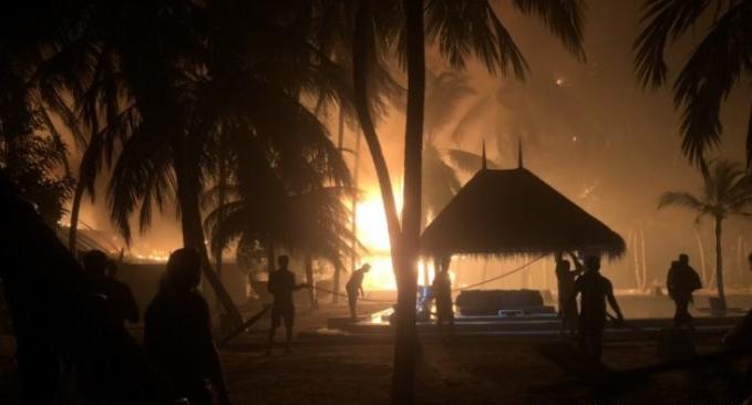 马尔代夫豪华度假酒店突发大火 曾获评全球5大最佳酒店