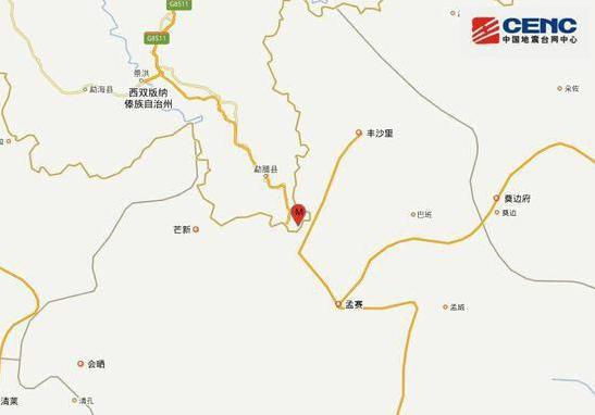地震最新消息2019:云南勐腊地震