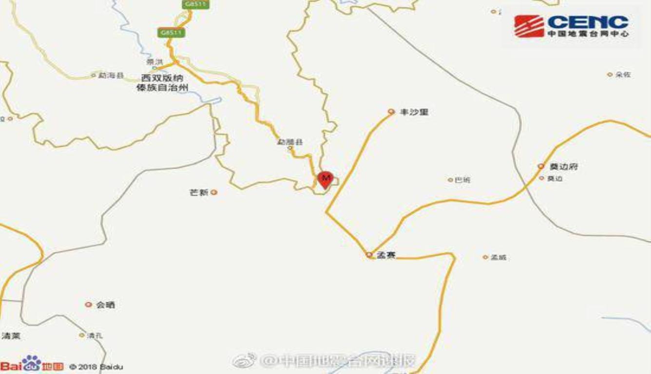 云南勐腊发生3.0级地震 震源深度6千米