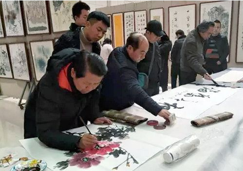 """""""笔墨丹青忆长安""""陕西省第一届大学生书画展在西安举办"""