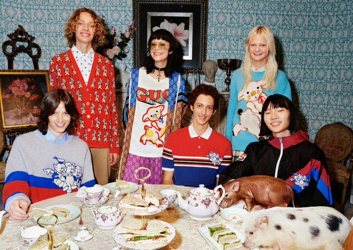 古驰 (Gucci) 2019中国新年系列广告大片:猪猪家族再添新成员!