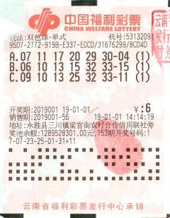 2019开门红 农民工喜中云南新年第一注双色球头奖665万元