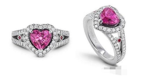 瑞士珠宝品牌Gübelin推出情人节特别款粉色蓝宝石戒指