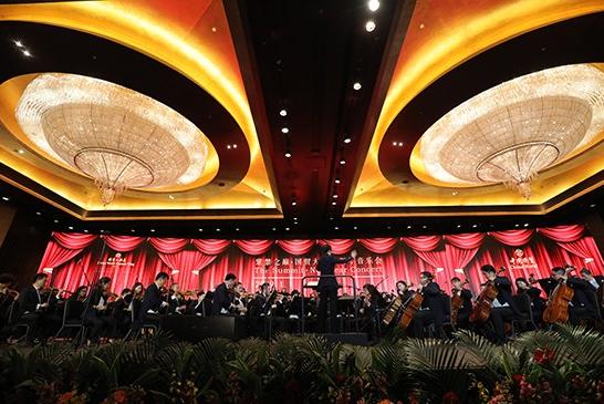 北京国贸大酒店携手中央音乐学院交响乐团 成功举办了2019新年音乐会