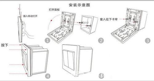 暗线开关插座安装图解,不可不看的家用开关插座安装攻略!