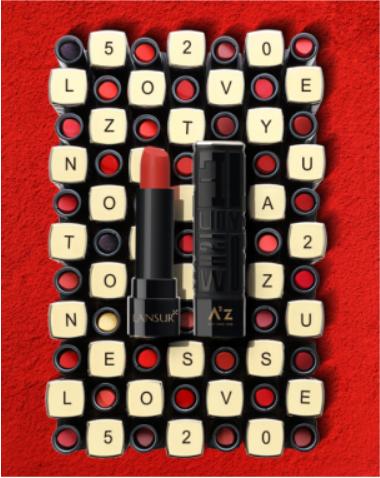 兰瑟彩妆打字机系列口红 百变妆容闪亮登场
