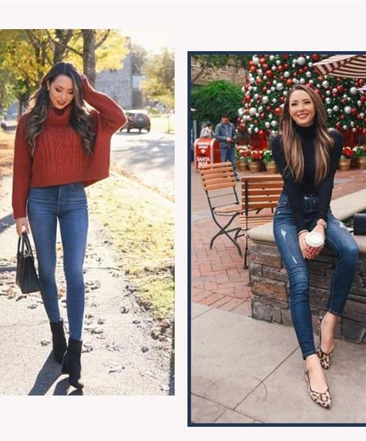 冬季穿衣搭配造型示范 毛衣+这3件瘦美又减龄