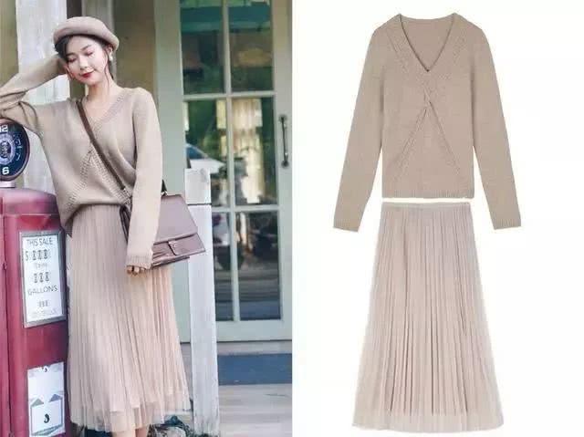 冬季服装流行趋势示范 毛衣+裙子经典组合你必须Get