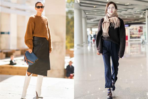 欧美服装流行趋势示范 一件海马毛让你秒变小仙女